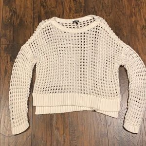 White Knit Sweater by Express